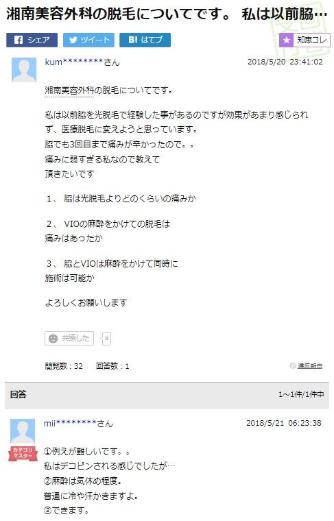ヤフー知恵袋_湘南美容外科1